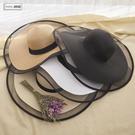 赫本風帽子女夏天防曬遮陽大檐草帽出遊太陽帽海邊百搭度假沙灘帽 店慶降價
