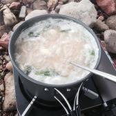 戶外便攜式單人爐頭套鍋不粘鍋 露營野營野炊野餐鍋具大號單鍋「Top3c」