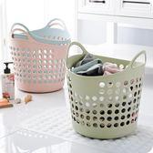 塑料大號髒衣籃手提素色髒衣服收納籃髒衣簍玩具雜物整理筐置物籃   igo
