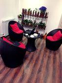 陽台桌椅組合小茶幾三件套簡約休閒戶外室外庭院咖啡廳鐵藝桌椅子 新年免運特惠