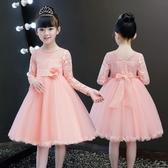 (交換禮物)女童禮服 女童連身裙 童裝超洋氣兒童公主裙 禮服紗裙子