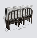折疊床單人床雙人家用簡易便攜午睡床1.2米四折硬板床1.5米鐵架床 設計師