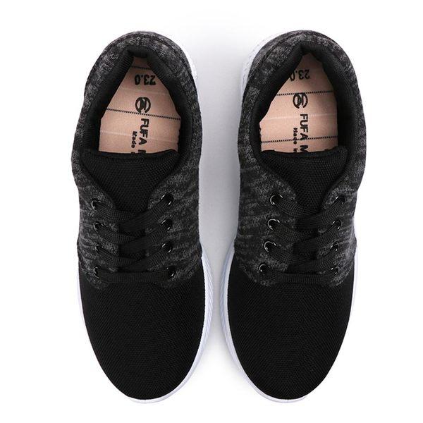 【富發牌】極致飛織輕量氣墊慢跑鞋-黑/灰/粉  1AJ18