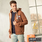 【JEEP】休閒美式風格保暖連帽外套 (咖啡)