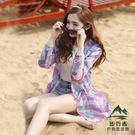 防曬外套女中長款夏季沙灘迷彩防曬衫寬鬆薄外套防曬服【步行者戶外生活館】
