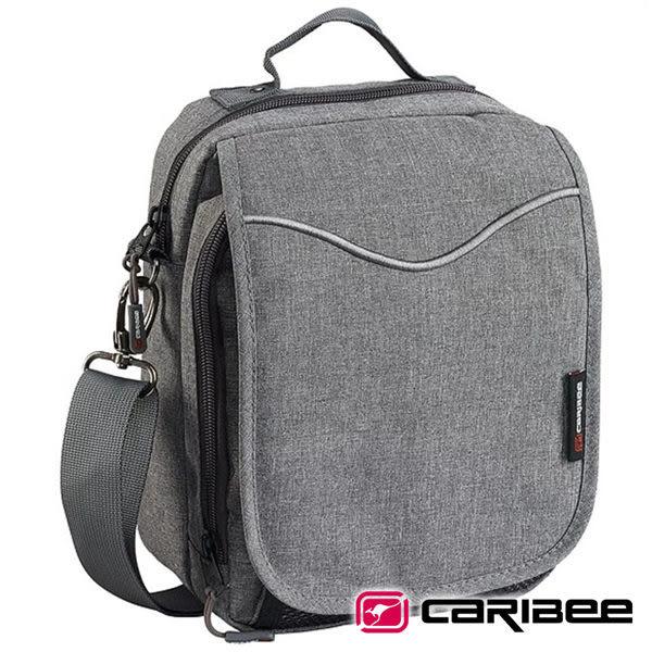 【Caribee 澳洲】GLOBAL 旅遊側背包『灰黑』CB-1222