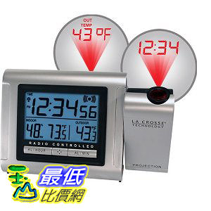 [美國直購ShopUSA] 排名18 室內室外溫度鬧鐘 La Crosse Technology Projection Alarm Clock with Outdoor $2369