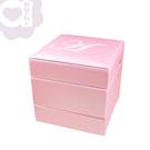 【亞古奇 Aguchi】皇家標記-優雅粉珠寶盒(玩美精靈系列)手工精品時尚設計珠寶盒/戒盒/耳環盒