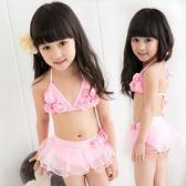 【雙十二】預熱熱賣新品寶寶蕾絲女童分體比基尼泳裝兒童泳衣 孩子泳衣     巴黎街頭