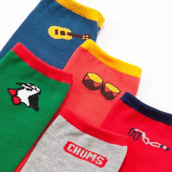 CHUMS 日本 休閒造型運動襪 單雙售 橘色 CH061004D003