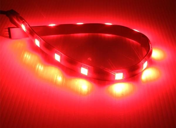 回饋買家 台灣製造 紅光 31cm LED 三晶 5050 12P 軟燈條 氣氛 車底燈 日行燈 照明 LED軟燈條