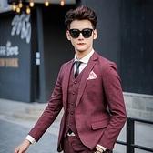 西裝套裝含西裝外套+西裝褲(三件套)-時尚口袋外翻設計造型面試男西服4色73hc87【時尚巴黎】