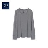 Gap女裝 輕盈條紋長袖圓領T恤498982-經典細黑條紋