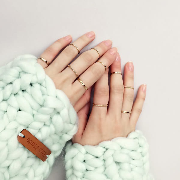 戒指 10件組 日韓流行簡約氣質款素面造型戒指【1DDR0107】