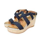 MICHELLE PARK 微醺 ‧ 霧面羅馬超輕量楔型涼鞋-深藍