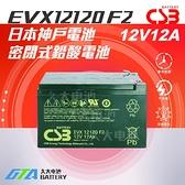 【久大電池】 神戶電池 CSB電池 EVX12120 品質壽命超越 REC12-12 PE12V12 WP12-12