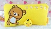 【震撼精品百貨】Rilakkuma San-X 拉拉熊懶懶熊~San-X 筆袋/拉鍊收納袋-黃立體小雞#22008