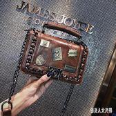 手提包2019韓版百搭鏈條時尚簡約單肩斜挎小方包 qw4754『俏美人大尺碼』