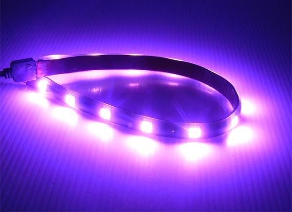 回饋買家 台灣製造 粉紫色 31cm LED 三晶 5050 12P 軟燈條 氣氛 車底燈 日行燈 照明 LED軟燈條