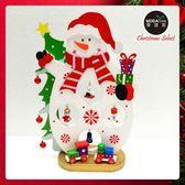 繽紛耶誕創意DIY小擺飾木質大雪人組(白色款)-聖誕禮物擺飾 ◆86小舖 ◆