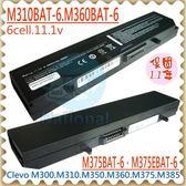 藍天電池-CLEVO電池 M300,M300N電池,M310,M310N,M350電池,M350B,M300BAT-6 M310BAT-6,M360BAT-6,87-M386S-495