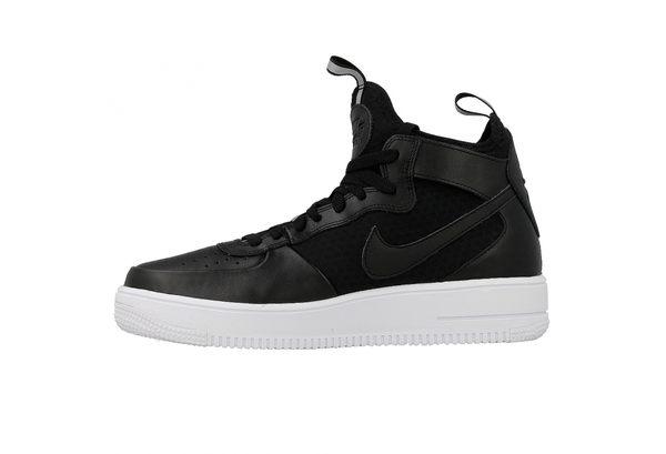 NIKE AIR FORCE 1 ULTRAFORCE MID 男款黑色慢跑鞋--NO.864014001   休閒鞋  