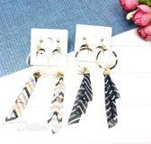 韓國進口 浪漫 飄逸 珍珠 點綴 夾式耳環