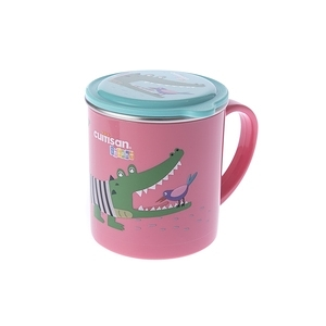 Cuitisan 酷藝師 不鏽鋼兒童餐具 酷夢系列-小鱷馬克杯-威尼斯紅