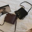 復古小包包女新款韓版ins簡約百搭水桶包chic質感側背斜背包 黛尼時尚精品