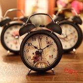 學生創意床頭時尚簡約靜音鬧鐘鬧錶台鐘金屬小鬧鈴帶夜燈鈴聲很響【618又一發好康八九折】