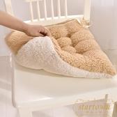 2個裝 椅子保暖墊雙面坐墊辦公室短毛絨椅墊凳子【繁星小鎮】