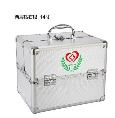 熊孩子❃特大號醫藥箱多層小藥箱家庭急救箱出診醫療箱鋁合金家用藥箱(主图款3)