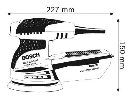 BOSCH 打蠟機 研磨機/可集塵 打蠟 拋光 GEX125-1AE (外加砂紙#120 +#240 )