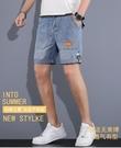 牛仔短褲男2021年新款夏季潮牌中褲寬松外穿ins潮流工裝五分褲子