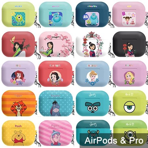 AirPods Pro 保護殼│迪士尼 小美人魚 樂珮 睡美人 灰姑娘 毛怪 大眼仔 小熊維尼│硬殼 保護套