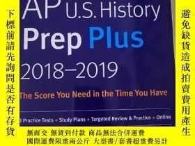 二手書博民逛書店AP罕見U.S.History Prep Plus 2018-2