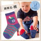 防滑輕薄學步襪-蘋果花桃(9-11cm)...