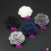 [貝貝居] 高檔 花瓣 水晶鉆扣 黑白紐扣 大衣扣 紐扣 領口裝飾