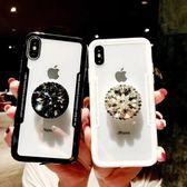 【SZ14】簡約透明背板水鑽抖音氣囊支架 三星NOTE9手機殼 note 8手機殼 S9手機殼 S8手機殼