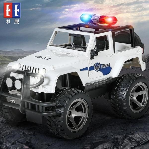 大號遙控警車兒童吉普越野車充電電動警車攀爬汽車男孩玩具車 QQ24529『MG大尺碼』