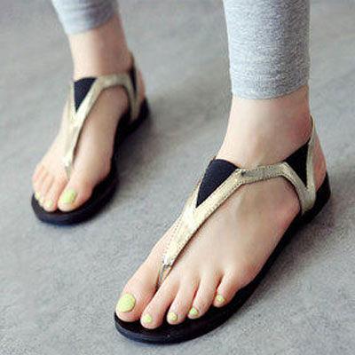 香港潮鞋金屬感夾腳涼鞋【S348】☆雙兒網☆