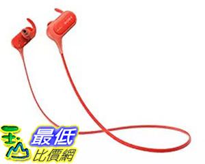 [106 美國直購] Sony MDRXB50BS/R 入耳式耳機 In-Ear, Sports Headphone, Red