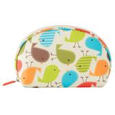 【韓版】可愛繽紛防潑水輕便貝殼化妝包(4色)-繽紛小雞