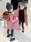 女童外套 女童外套秋冬新款洋氣正韓冬裝棉衣兒童加厚夾棉加絨秋裝大衣