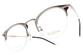 PAUL HUEMAN 光學眼鏡 PHF5106A C5-1 (淡金-黑) 復古簡約微貓眼款 # 金橘眼鏡
