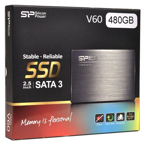[良基電腦] 廣穎 SiliconPower Velox V60 480GB 2.5吋 SATA3 SSD 固態硬碟