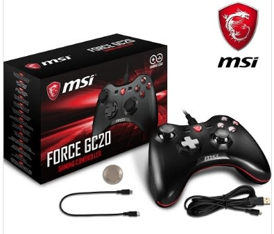 新竹【超人3C】MSI 微星 Force GC20 搖捍控制器遊戲手把 PC/PS3/Android三平台