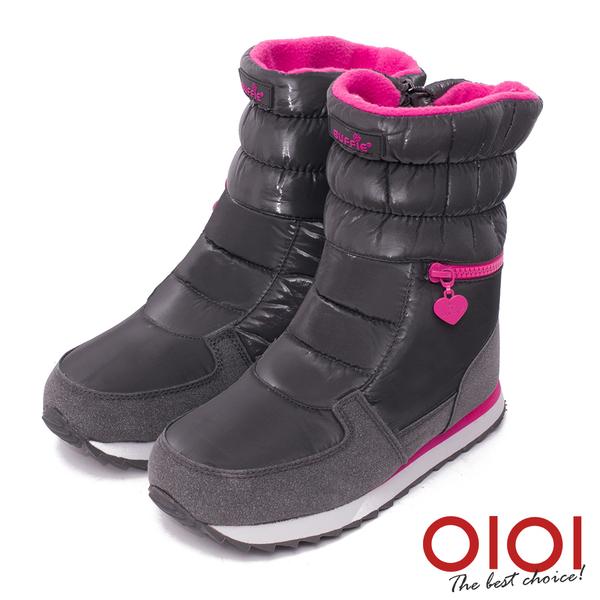 雪靴 寒冬對策撞色防水厚底雪靴(灰)* 0101shoes 【18-M025gy】【現貨】