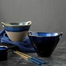 泡麵碗 創意日式陶瓷碗雙耳插筷泡麵碗甜品...