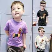 短袖T恤男童夏裝T恤2018新品正韓寶寶短袖打底衫小童兒童夏季半袖上衣潮